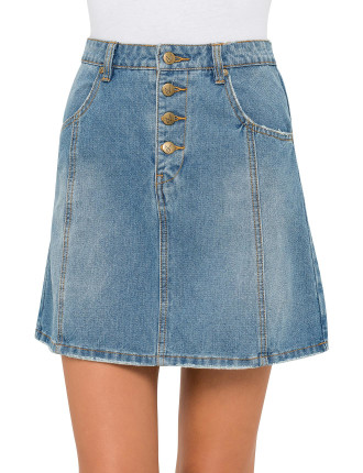 Middle Ground Dnm A-Line Skirt