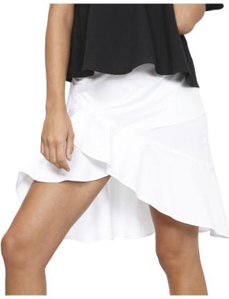 Poetic Ruffle Midi Skirt