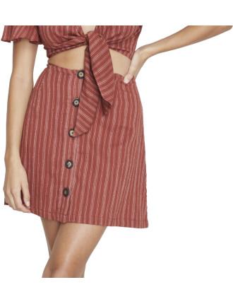 Clovelly Button Front Skirt