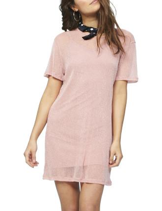 Lurex Tee Shirt Dress