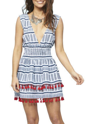 Aztec Tassle Ra Ra Dress