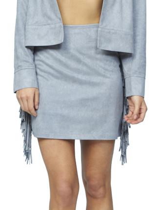 Suede Tassle Skirt
