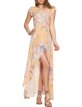 Dahlia Petal Wrap Maxi Dress