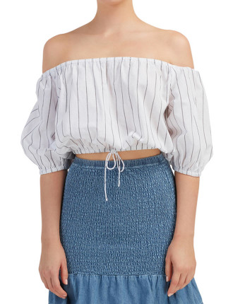 Cubic Stripe Top
