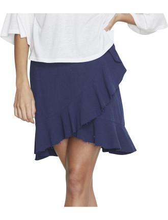 Pacifica Linen Wrap Skirt