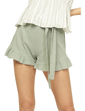 Teatime Tie Front Frill Shorts