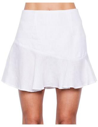 Blooms Linen Skirt