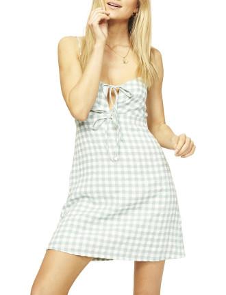 Sage Gingham Dress