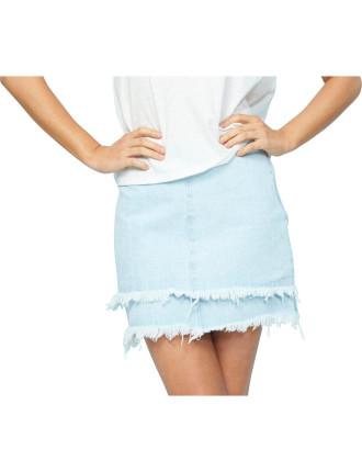 Laura Layered Denim Skirt
