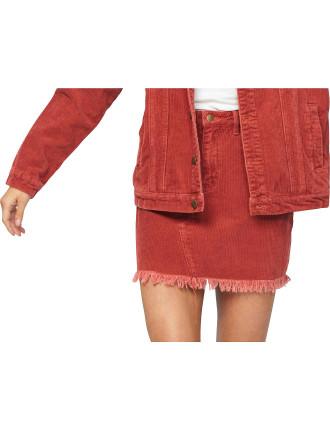 Empire Cord Mini Skirt