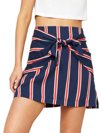 Quadrant Tie Front Skirt