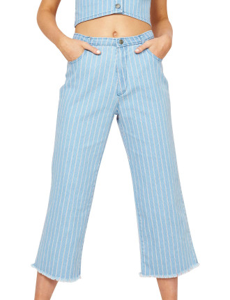 Liberty Stripe Denim Cullotes