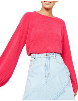 Soft Touch Blouson Crop Knit
