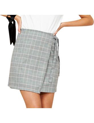 Power Trip Wrap Mini Skirt