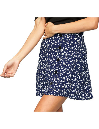 SHADY DAYS BUTTON FRONT SKIRT