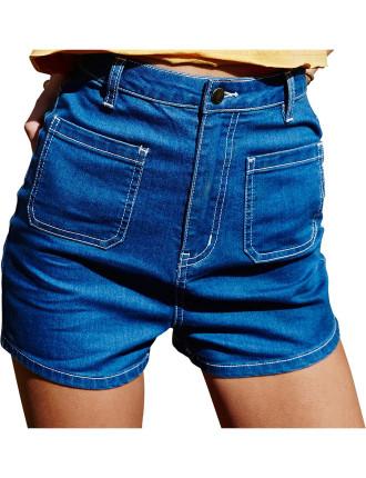 Why So Blue Denim Shorts