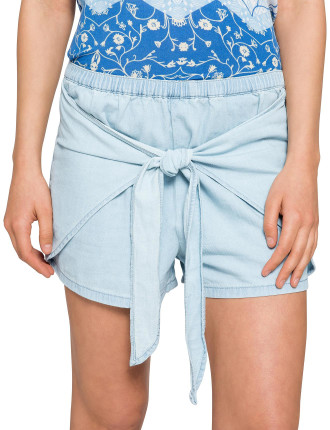 High Time Tie Front Shorts