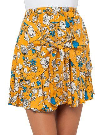 Autumn Breeze Tie Front Skirt