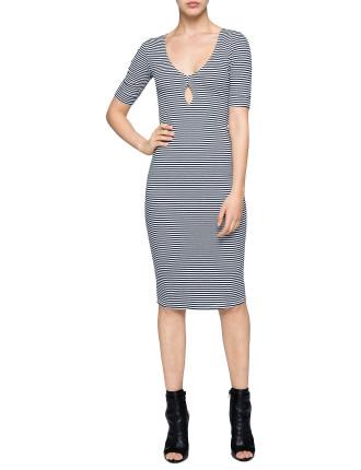Anchorage Stripe Midi Dress