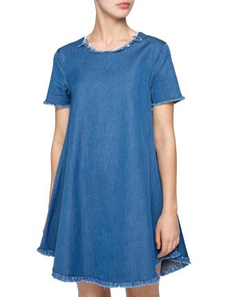 Frayed Tee Mini Dress