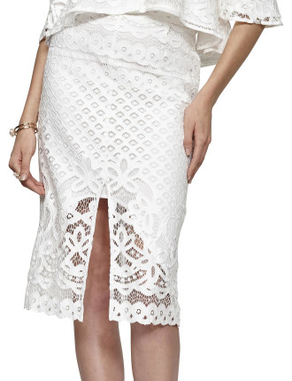 Tranquility Lace Midi Skirt
