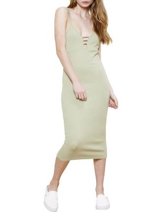 Rib Midi Dress