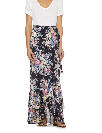 Beach House Wrap Maxi Skirt