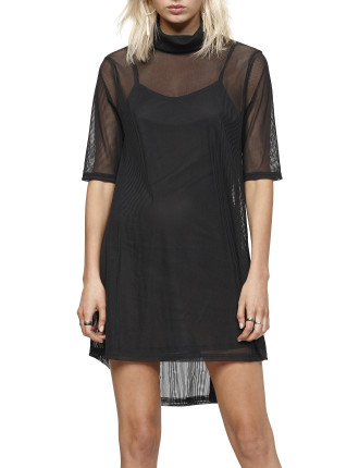 Tori Mesh Layered Dress