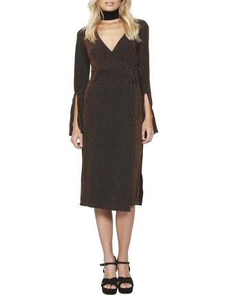 Zoe Lurex Wrap Dress