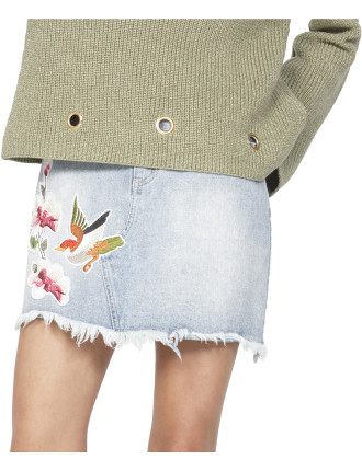 China Heights Patch Mini Skirt