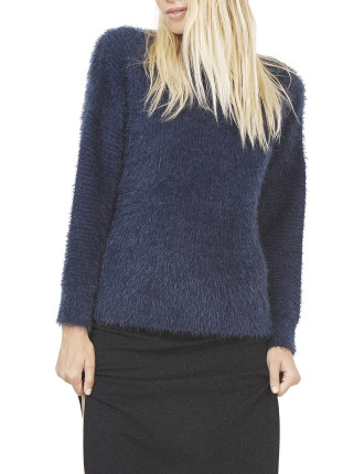Fluffy Knit Ribbon Top