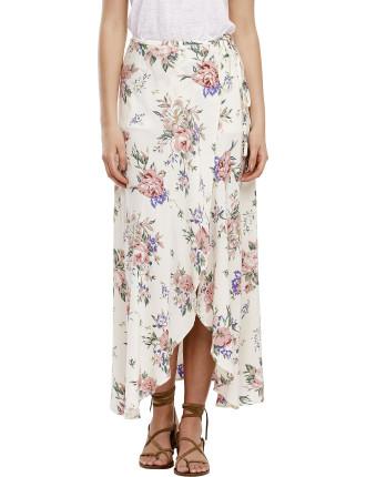 Wild Rose Maxi Wrap Skirt