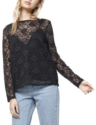 Wine And Dine Lace Top