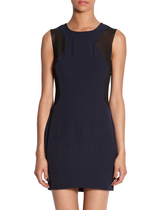 Faint Structured Sleeveless Dress