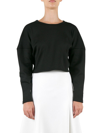 Cropped Long Sleeve Sweat Top