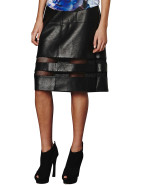 Pu Net Midi Skirt $99.95