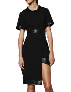 Textured Pu Panel Dress $119.00