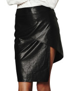 Textured Pu Layer Skirt $89.95