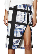 Check Mate Zip Midi Skirt $109.00