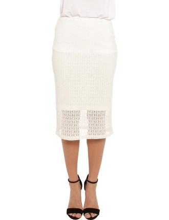 Lou Lace Midi Skirt