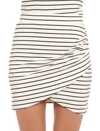 Karley Stripe Mini Skirt