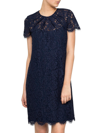 Bouquet Lace Fitted Lace Dress