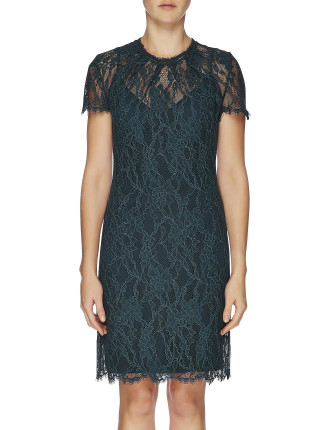 Cap Slv Bouquet Lace Dress