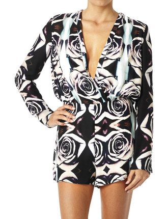 City Of Roses Long Sleeve Romper