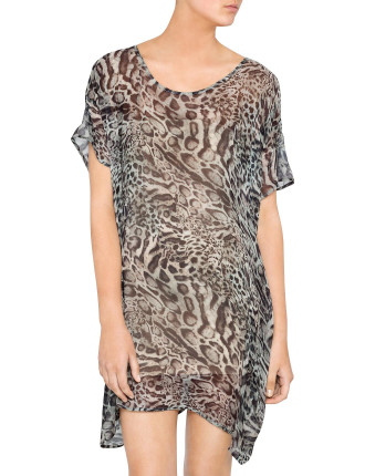 Racer Leopard T-Dress