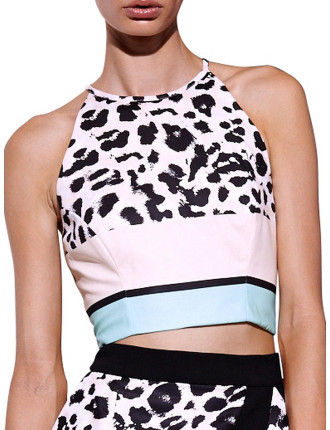 Impressionist Fitted Crop Top
