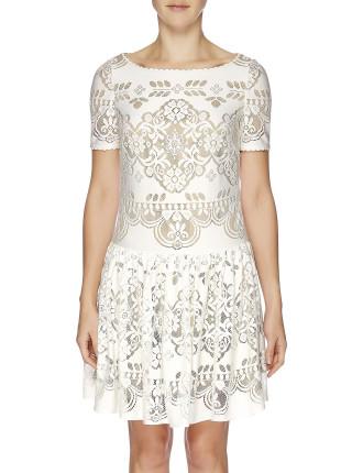 Heirloom Knit Short Sleeve Tunic Dress