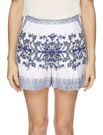 Moroccan Mosaic Short W Inverted Pleats