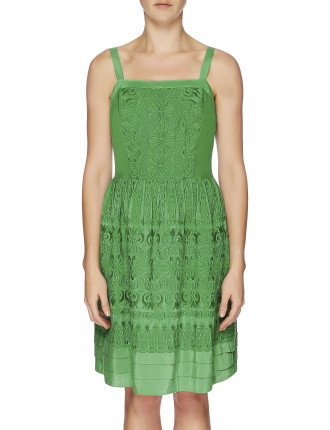 Rococco Embroidered Strap Dress