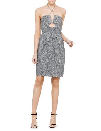 Silk Diamond Tuck Dress